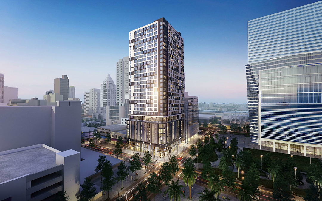 Work Underway At Site Where 31-Story Grand Station Tower Planned
