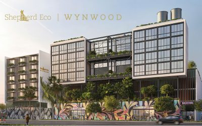 SHEPHERD ECO HOTEL & RESIDENTAL PLANNED IN WYNWOOD WITH TREE HOUSE & FLOATING GLASS SPA, DESIGNED BY TOUZET STUDIO