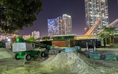 PHOTOS: ONE KEY PIECE IS MISSING FROM THE RIVERWALK IN BRICKELL, BUT THAT SOON MAY CHANGE