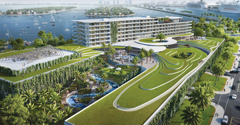 Jungle Island hotel squeezes past a city board